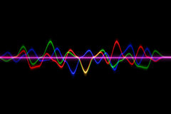Audio digital equalizer technology, pulse musical.abstract of so Stock Photo