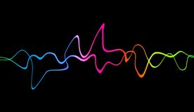Audio digital equalizer technology, pulse musical. Abstract colorful sound waves for party, DJ, pub, clubs stock illustration