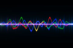 Audio digital equalizer technology, pulse musical.abstract of so Stock Photography