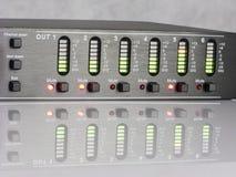 Audio DSP output led indicating signal level Royalty Free Stock Photo
