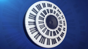 Audio dynamics monitor in two circular piano Royalty Free Stock Photos