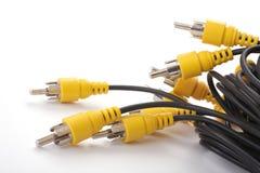 Audio e video cavi. Fotografie Stock Libere da Diritti