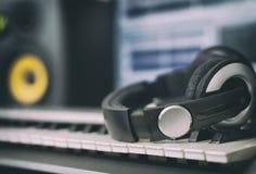 Audio earphones. Stock Photo