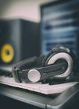 Audio earphones. Stock Images
