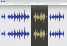 Audio edit software. Vector illustration Stock Image
