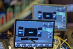 Audio en video wordt uitgevoerd materiaal royalty-vrije stock afbeeldingen