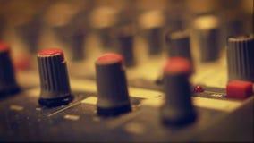 Audio Engineer's Sound Board Rack Focus stock video footage