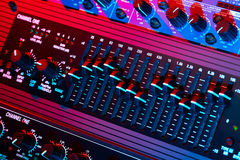 Audio equalizer. In bright light Royalty Free Stock Photos