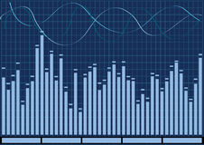 Audio Equalizer in blue color Royalty Free Stock Photo