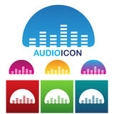 Audio equalizer icon Stock Photography
