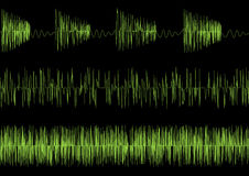 Audio equalizer waves Royalty Free Stock Photography