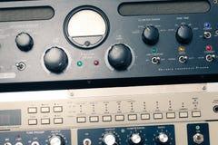 Audio equipment closeup Royalty Free Stock Photos