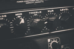 Audio Equipment. Recording Audio Equipment in recording studio Stock Photos