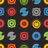 Audio equipment seamless background. Audio equipment seamless vector background Stock Image