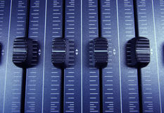 Audio faders Stock Photo
