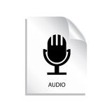 Audio file icon Royalty Free Stock Photos