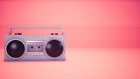 audio fondo del nastro di musica 3D illustrazione di stock