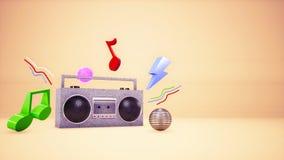 audio fondo del nastro di musica 3D royalty illustrazione gratis