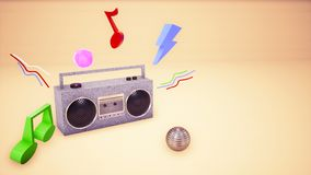 audio fondo del nastro di musica 3D illustrazione vettoriale