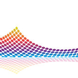 Audio forma d'onda grafica Fotografia Stock Libera da Diritti