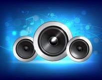 Audio głośnikowy muzyczny pojęcie Obraz Royalty Free