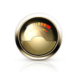 Audio Gauge. Sport illustration on a white background Royalty Free Stock Images