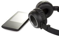 Audio giocatore e cuffia moderni Immagine Stock