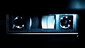 Audio gioco del nastro a cassetta stock footage