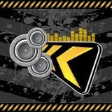 Audio grungeafleidingsactie Royalty-vrije Stock Foto's