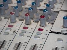 audio guzików melanżeru część dźwięk Obrazy Stock