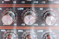 audio guzików melanżeru dźwięk Fotografia Stock