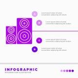 Audio, haute fid?lit?, moniteur, haut-parleur, calibre d'Infographics de studio pour le site Web et pr?sentation Style infographi illustration de vecteur