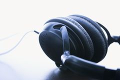 Audio headphones. Royalty Free Stock Image