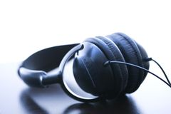 Audio headphones. Stock Images
