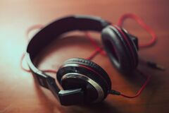 Audio headphones Stock Images