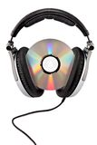 Audio headphones with CD Royalty Free Stock Images