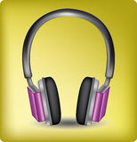 Audio headphones Stock Photography