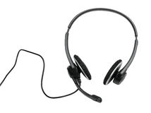 Audio headset (clipping path) Royalty Free Stock Images