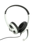 Audio headset with micro Stock Photo