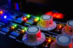 Audio het mengen zich console stock fotografie