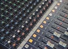 Audio het mengen zich console Royalty-vrije Stock Afbeelding