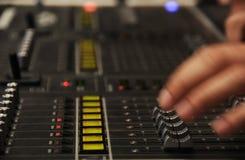 Audio het Mengen zich Console Royalty-vrije Stock Foto