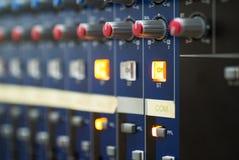 Audio het mengen zich lijst Stock Fotografie