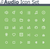 Audio icon set. Set of the simple audio icons Royalty Free Stock Images