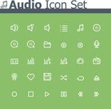 Audio icon set Royalty Free Stock Images