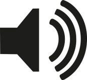 Audio icona dell'altoparlante Immagine Stock