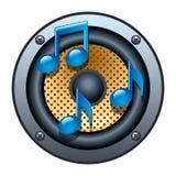 Audio icona dell'altoparlante Immagini Stock Libere da Diritti