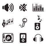 Audio icone Immagine Stock Libera da Diritti