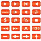 Audio icone Fotografie Stock Libere da Diritti