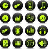 Audio icone Fotografia Stock Libera da Diritti